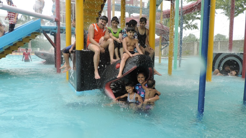 No need to come out of Water till night at Crystal World!