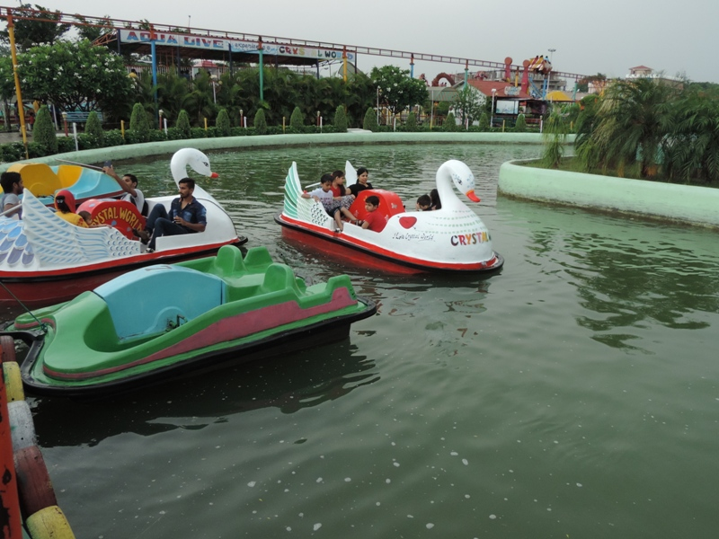 Crystal World offers paddle boats as added attraction for the families
