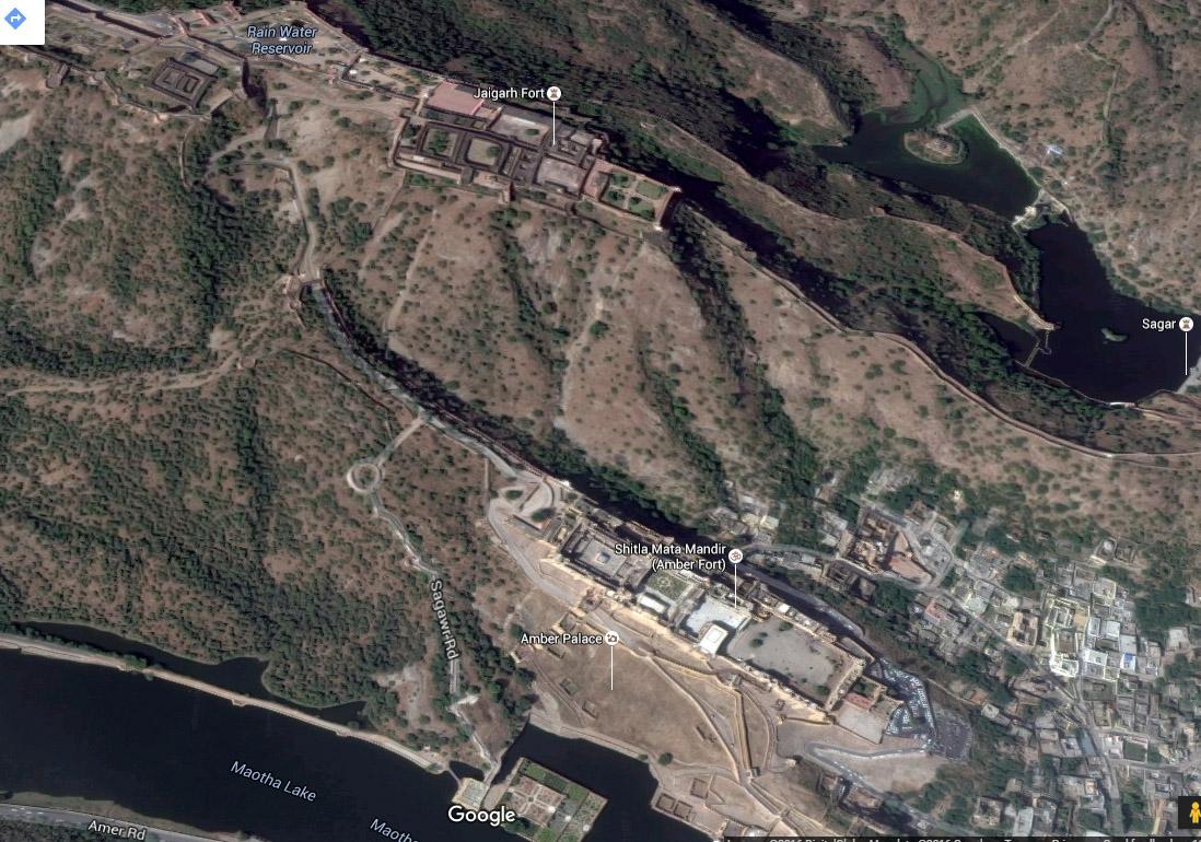 Jaigarh-Amer Fort map