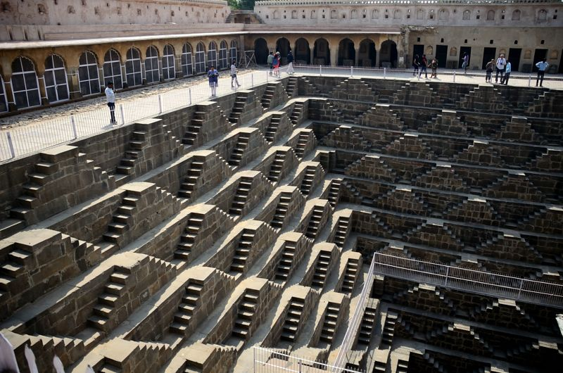 3500 twin-steps made in perfect symmetry at Chand Baori