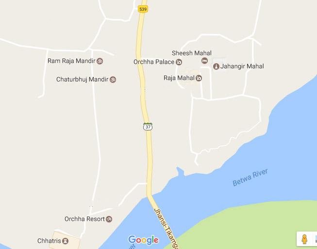 झांसी-टीकमगढ़ मार्ग के दोनों ओर प्रमुख दर्शनीय स्थल