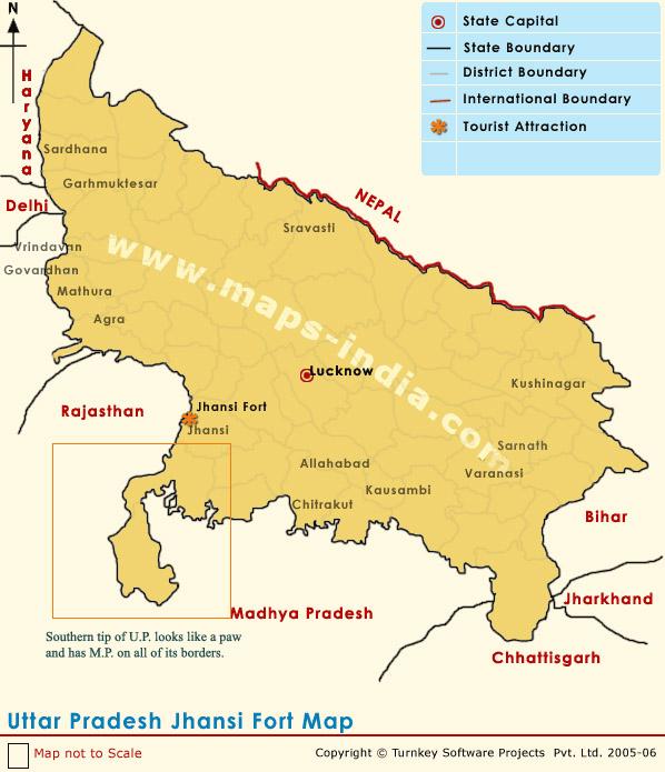 झांसी - ललितपुर प्रशासनिक दृष्टि से उ.प्र. में किन्तु भौगोलिक रूप से म.प्र. में !