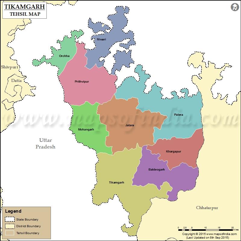 tikamgarh-tehsil-map
