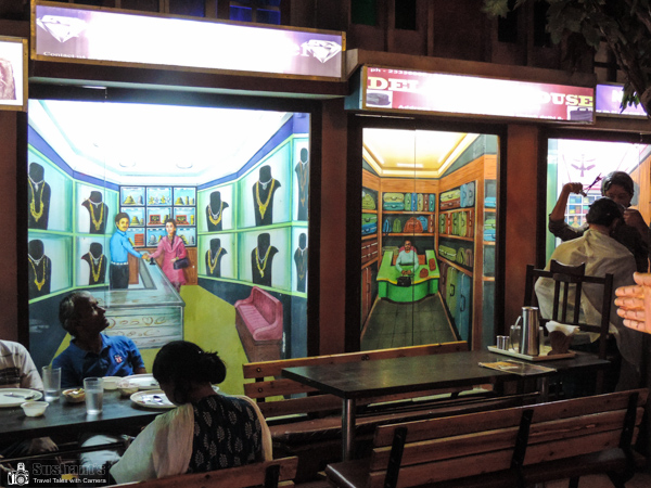 Nainital - Mall Road - Tallital - Chandni Chowk restaurant is a tribute to the Chandni Chowk, Delhi