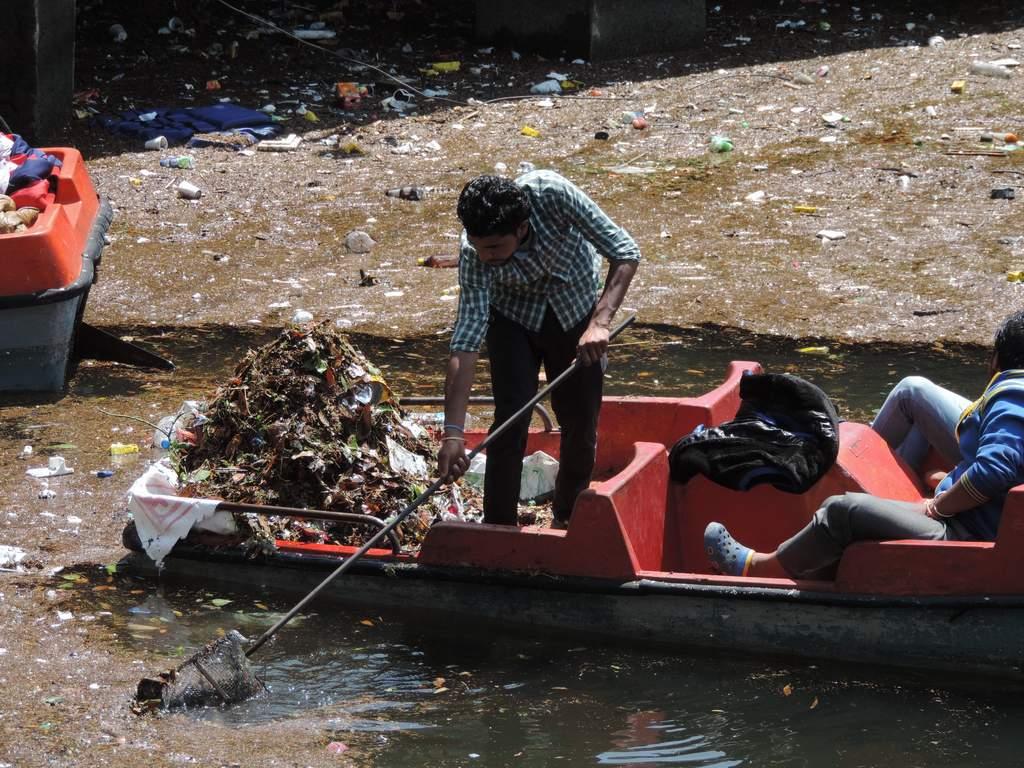 नैनीताल में नैनी झील की सफाई एक हर रोज़ चलने वाली प्रक्रिया है।