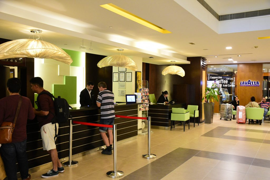 Reception counters at Hotel Citymax, Dubai
