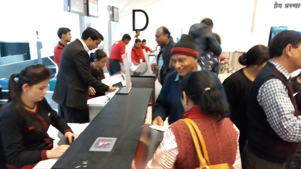 IGI Airport - Check in at Spicejet counter for Dubai