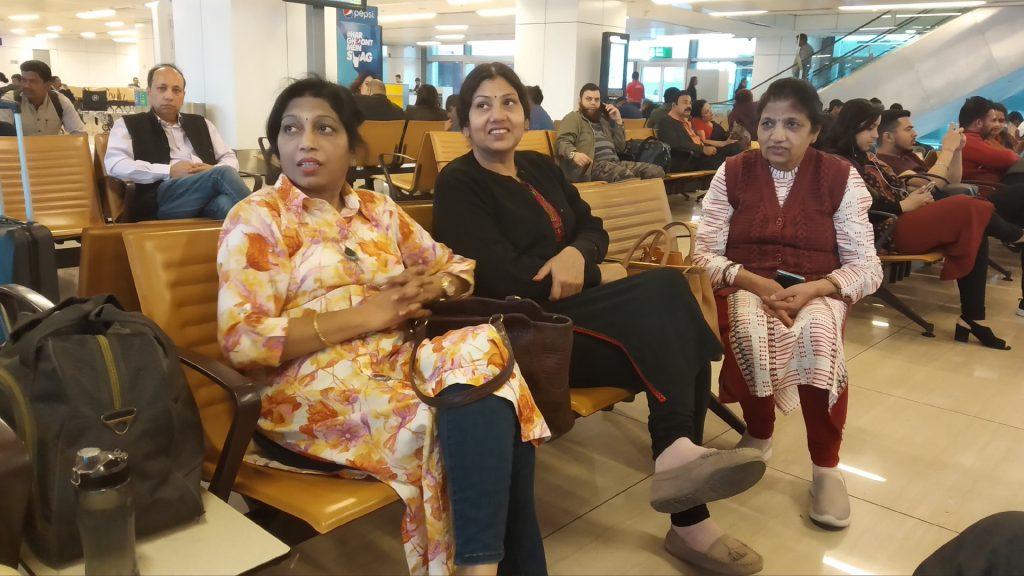 Waiting for boarding for Dubai at IGI Airport New Delhi
