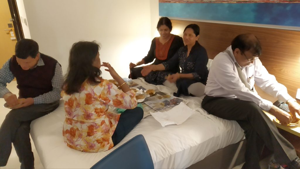 Accommodating in one room at Citymax Hotel Dubai while other rooms will be ready shortly.