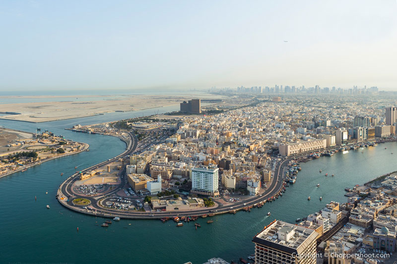 The view of Dubai creek from high above (pic from internet)