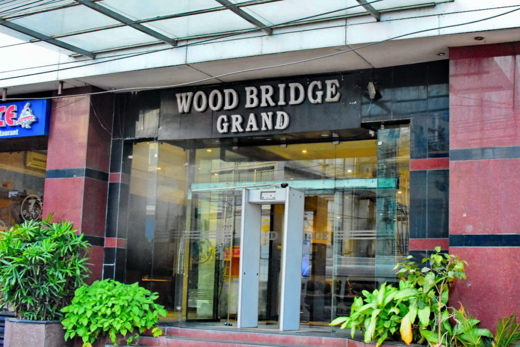 The hotel Wood Bridge Grand, Hyderabad where we had stayed on 19th Jan 2020.