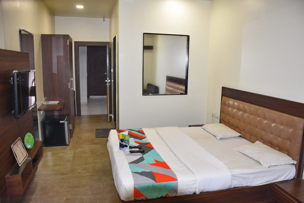 Our room at Hotel Global Inn Aurangabad
