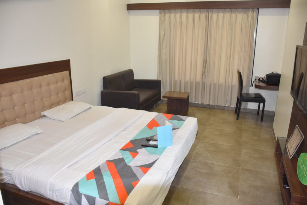 Our room at Hotel FabExpress Global Inn Aurangabad : 2nd floor