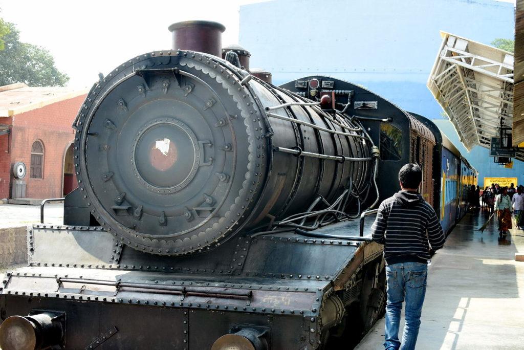 RFC Railway Station : Cute steam engine of by bygone era !