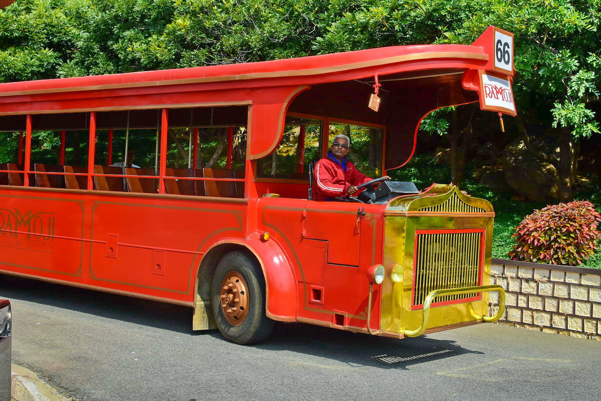 HoHo buses for guided tour of Ramoji Film City
