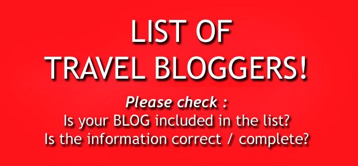 यात्रा संस्मरण लेखक (Travel bloggers)