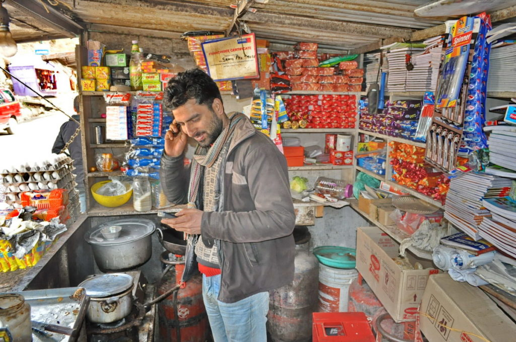 Tea-seller in Patnitop J & K.