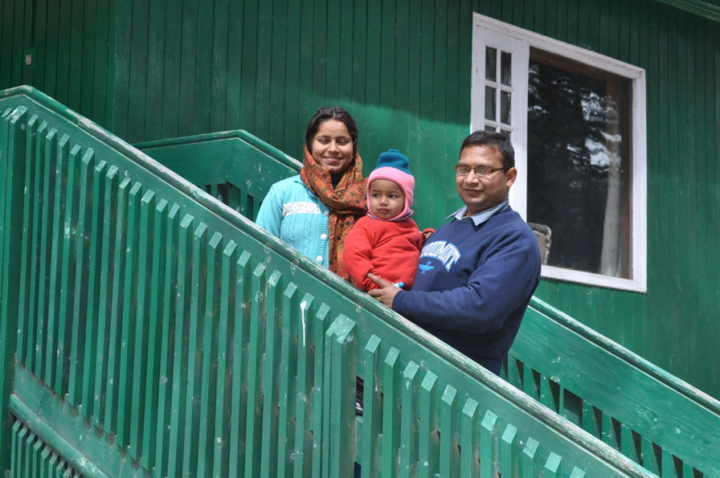 Photo session at Patnitop huts of J&K Tourism Development Corporation.