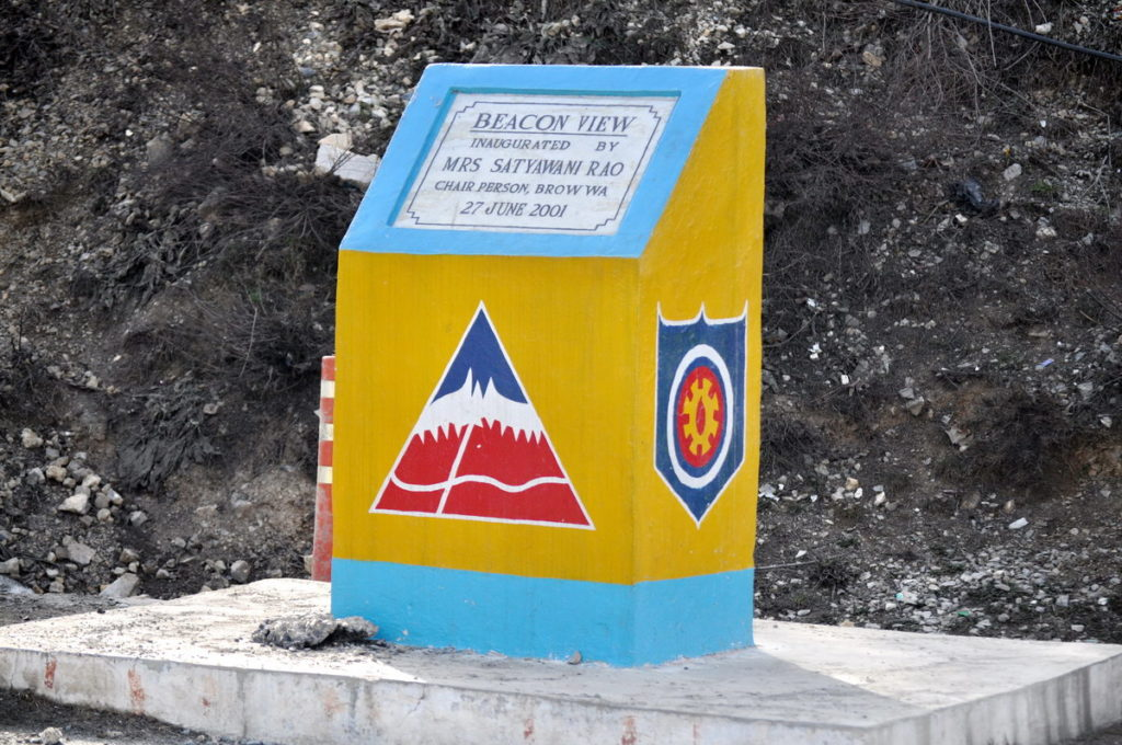 A tablet has been put up at Titanic Viewpoint, NH 44 Jammu Srinagar Highway.
