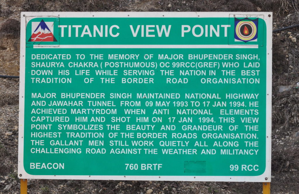 Titanic View Point has been developed in the holy memory of the brave army officer Jawahar Singh who sacrificed his life while protecting our country.